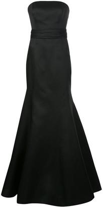 Carolina Herrera strapless fishtail floor-length gown