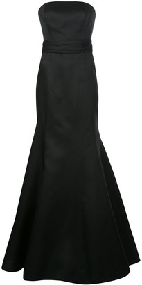 Carolina Herrera Strapless Fishtail Floor-Length Gown