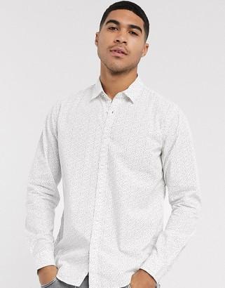 Esprit ditsy print shirt in white