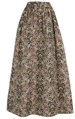 Alice + Olivia Alice+Olivia Tina Floral Jacquard Maxi Skirt