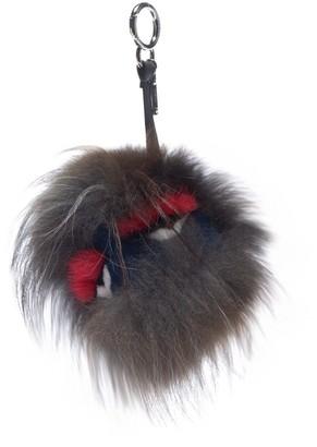 Fendi Bag Bug Blue Fur Bag charms