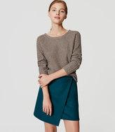 LOFT Petite Wooly Wrap Skirt