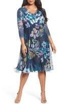 Komarov Plus Size Women's Chiffon A-Line Dress