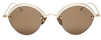 Smoke X Mirrors The Line 51MM Oval Sunglasses