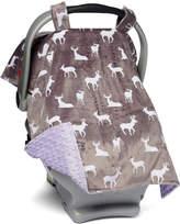 Graphite Deer & Lavender Car Seat Canopy
