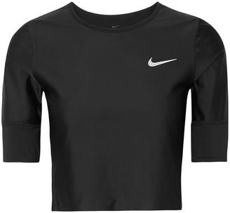 Nike Run Division Cropped Dri-fit Stretch Top