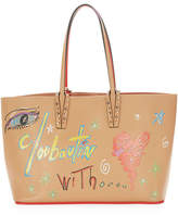 Christian Louboutin Cabata Small Calf Loubitag Paris Tote Bag