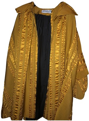 Christian Dior Yellow Silk Coat for Women Vintage