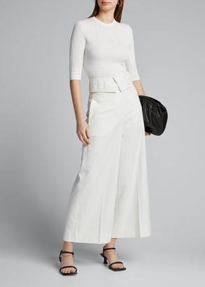 Proenza Schouler Textured Short-Sleeve Sweater