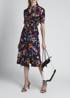 Altuzarra Floral Print Belted Shirtdress