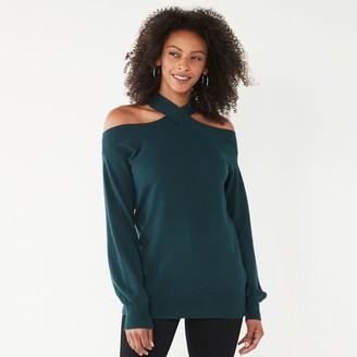 Nine West Women's Crisscross Off Shoulder Sweater
