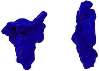 Ingy Stockholm Blue Objet No. 99 Asymmetric Earrings