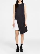 DKNY Wrap Dress With Pleated Skirt