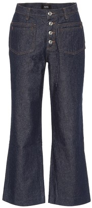 A.P.C. High-rise kick-flare jeans