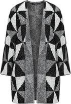 Via Appia Plus Size Graphic weave cardigan