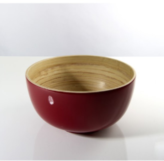 Bibol - 18cm Cherry Lacquered Bamboo Tchon Salad Bowl