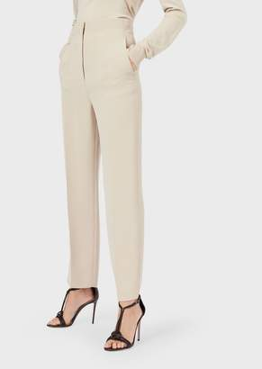 Giorgio Armani Slim-Fit Trousers In Silk