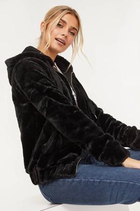 Ardene Faux Fur Zipped Hoodie
