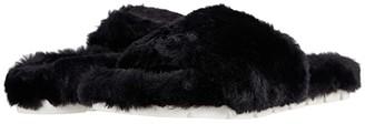 J/Slides Lovlie (Black Faux Fur) Women's Shoes