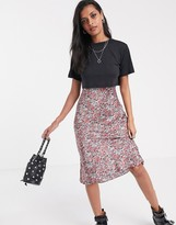 AllSaints hennie 2 in one floral slip dress with detachable t-shirt