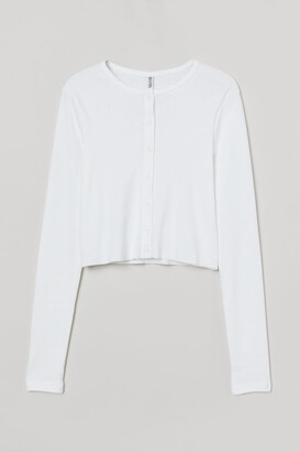 H&M Button-front cardigan - White
