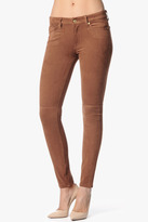 7 For All Mankind The Seamed Skinny In Sueded Rust