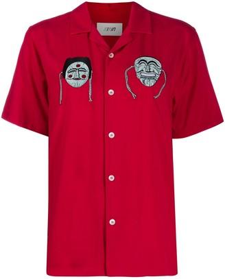 Kirin Masks embroidered bowling shirt