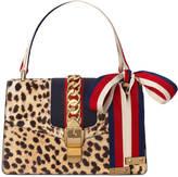 Gucci Sylvie leopard print shoulder bag