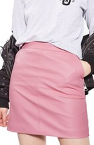 Topshop Women's Faux Leather Pencil Skirt