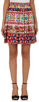 Dolce & Gabbana Women's Cotton A-Line Skirt-RED