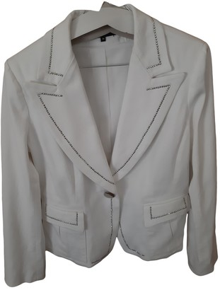 Georges Rech White Cotton Jacket for Women
