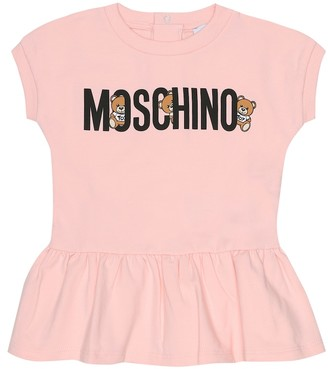 MOSCHINO BAMBINO Baby stretch-cotton dress
