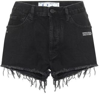 Off-White Mid rise denim shorts