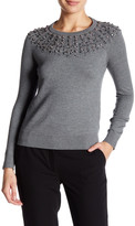 Milly Embellished Pullover Sweater