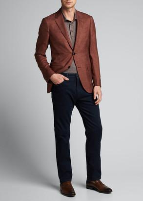 Ermenegildo Zegna Men's Dark-Wash Straight-Leg Regular-Fit Jeans