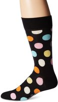 Happy Socks Men's 1Pk Combed Cotton Big Dot Crew Sock