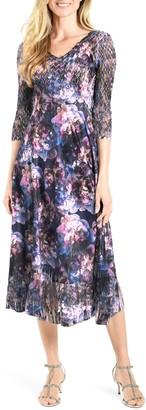 Komarov Charmeuse & Chiffon A-Line Dress