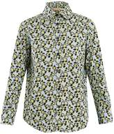 Marni Plumeria-print point-collar cotton shirt