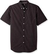 Obey Men's Sterling Slim Fit Woven Short Sleeve