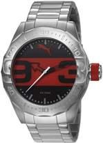 Puma Street Analog Men's Wrist Watch, Metal Silver Black