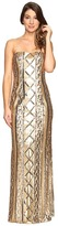 Adrianna Papell Strapless Cable Sequin Gown