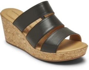 Rockport Women's Lyla Strappy Wedge Sandals Women's Shoes