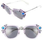 Miu Miu Women's 51Mm Embellished Sunglasses - Lilac