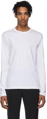 Prada White Stretch Cotton Long Sleeve T-Shirt