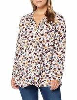 ULLA POPKEN Shirt mit Blumenprint A-LINE schwarz NEU