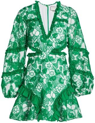 Alexis Imetta Lace Cutout Mini Dress