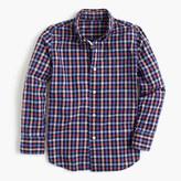 J.Crew Kids' Secret Wash shirt in multicheck
