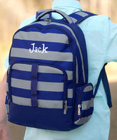 Designs By Two Greek Sisters Designs by Two Greek Sisters Backpacks - Navy & Gray Stripe Greyson Personalized Backpack