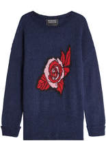 Markus Lupfer Printed Pullover with Mohair and Wool