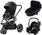 Quinny Moodd 3 in 1 Package with Foldable Carrycot and Maxi-Cosi Pebble - Black Devotion